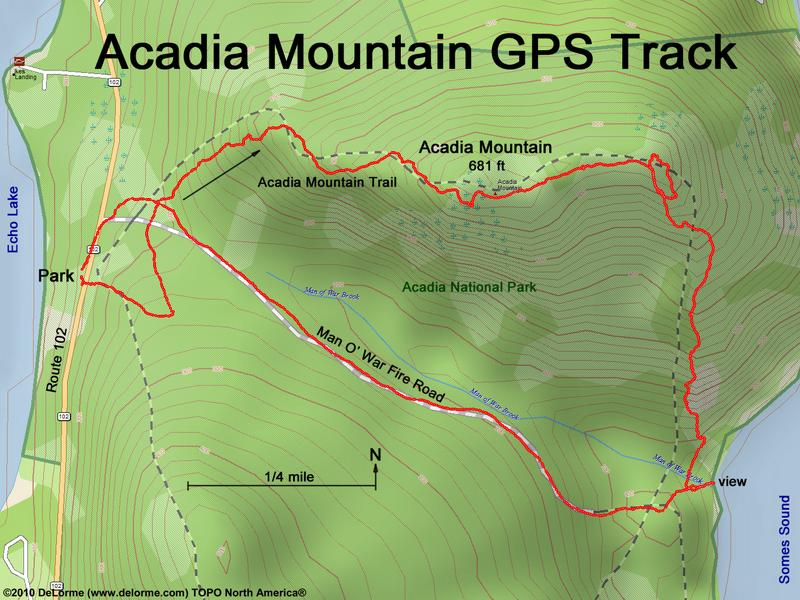 directions to Acadia Mountain