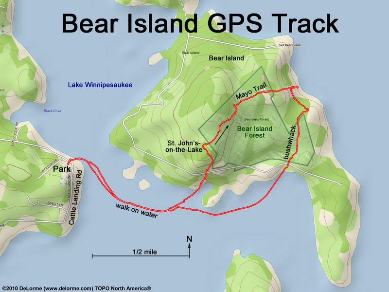 hike Bear Island NH
