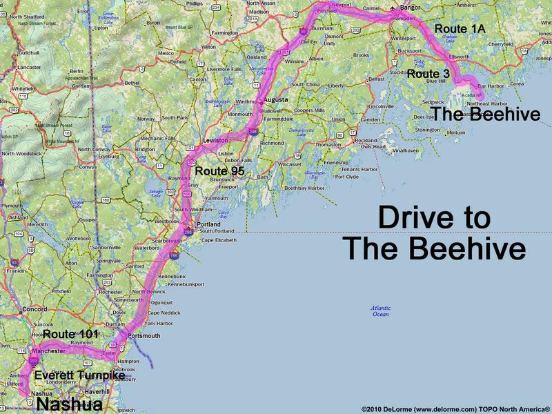 Corea Maine Map.Drive To The Beehive