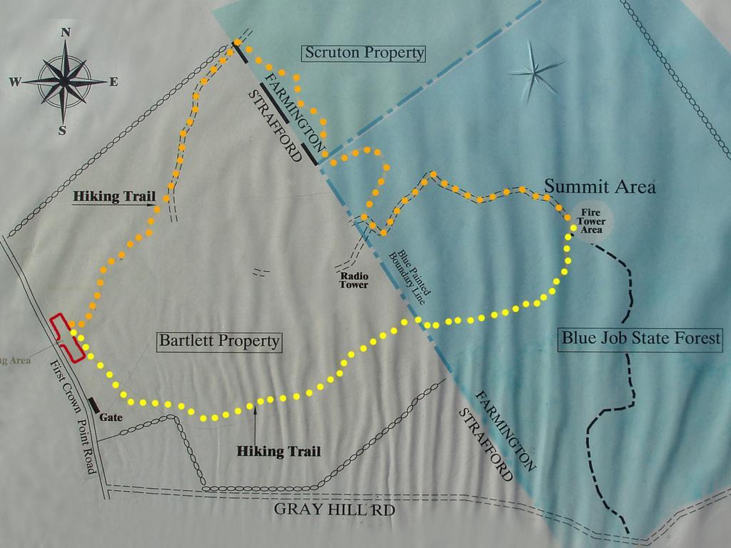 hike Blue Job Mountain NH