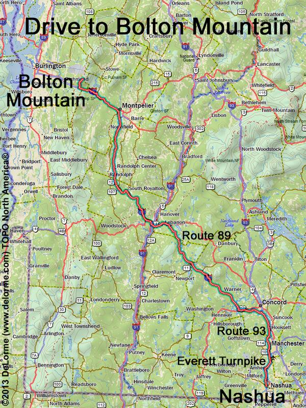 Drive to Bolton Mountain