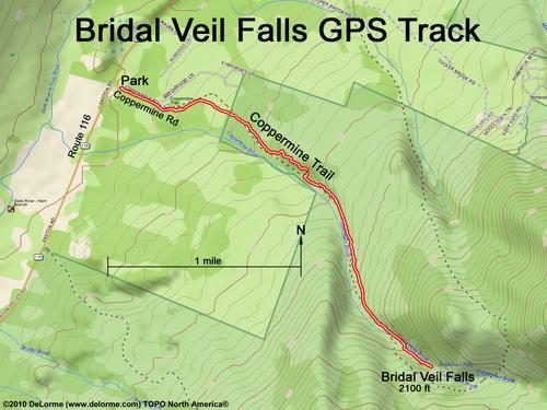 hike to Bridal Veil Falls NH