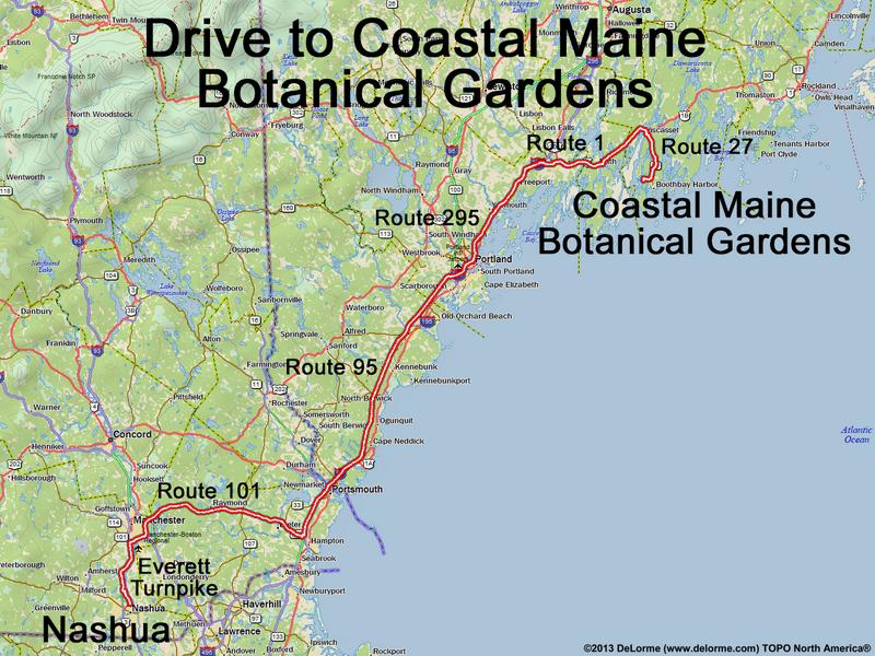 Corea Maine Map.Drive To Coastal Maine Botanical Gardens