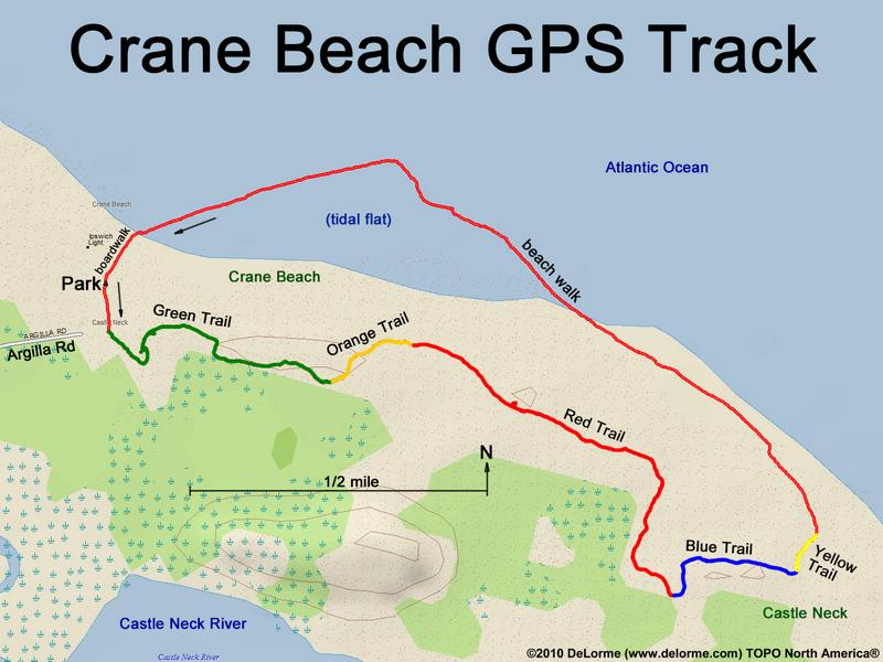 Trails Up To Four Miles Of Beach Plus Five Dune Trail Map Crane Estate Website On The