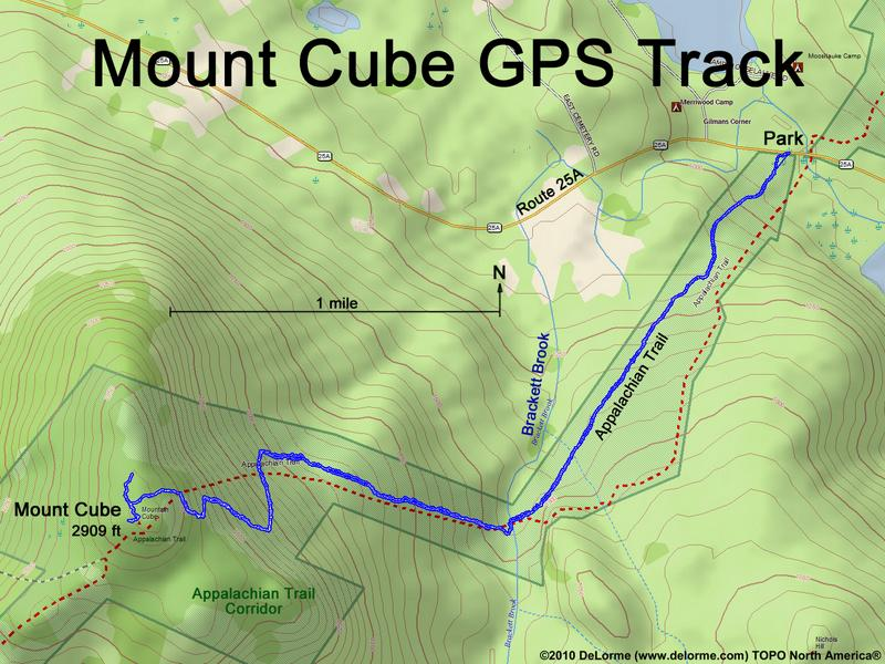 Directions To Mount Cube - Appalachian trail new hampshire map