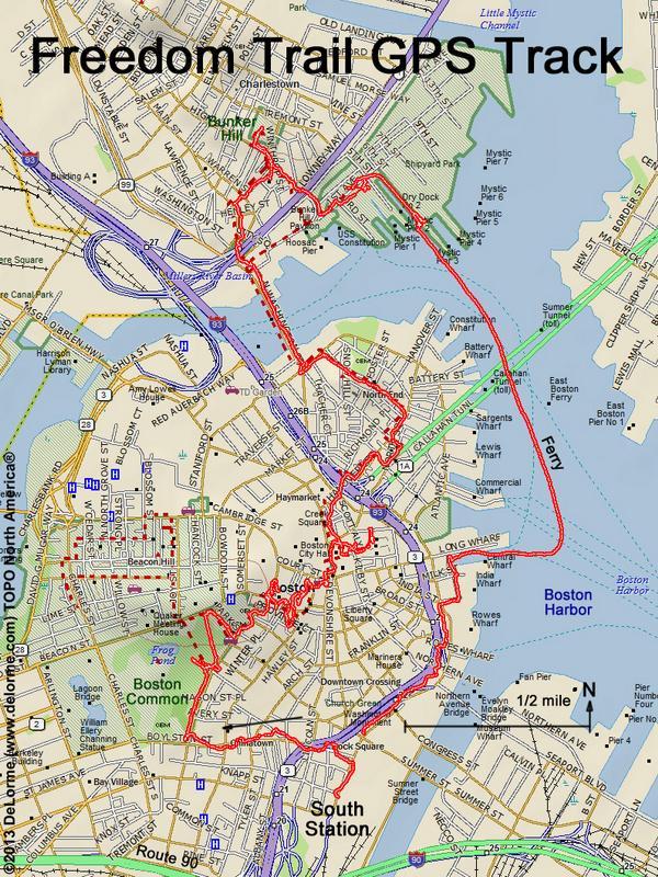 Directions To Freedom Trail: Freedom Trail Boston Map At Slyspyder.com