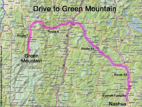 directions to Green Mountain