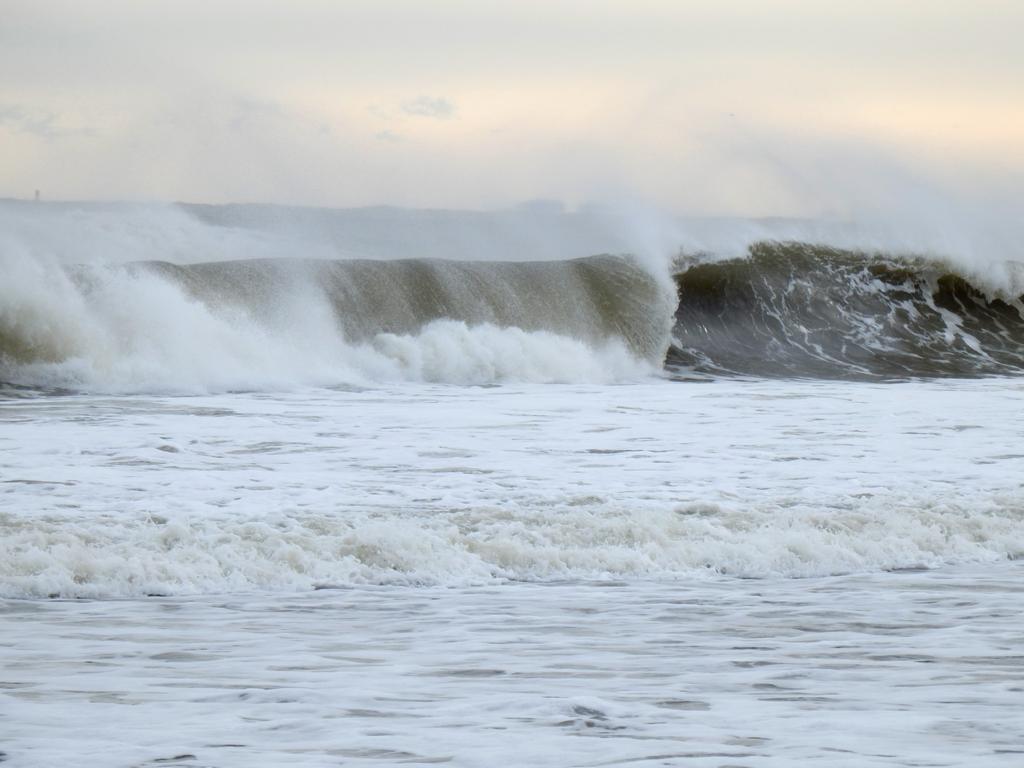 Waves At Hampton Beach In New Hampshire