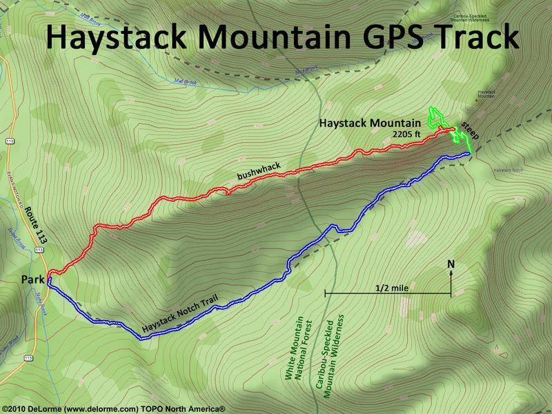 Bushwhack Haystack Mountain Me
