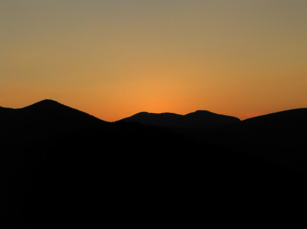 Abstract sunset silhouette as seen from potash mountain in Mountain silhouette