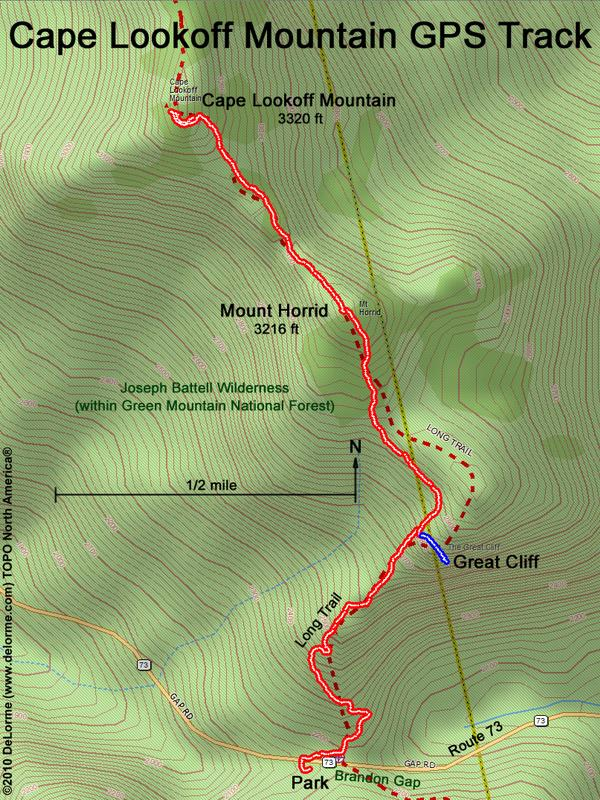 directions to Cape Lookoff Mountain