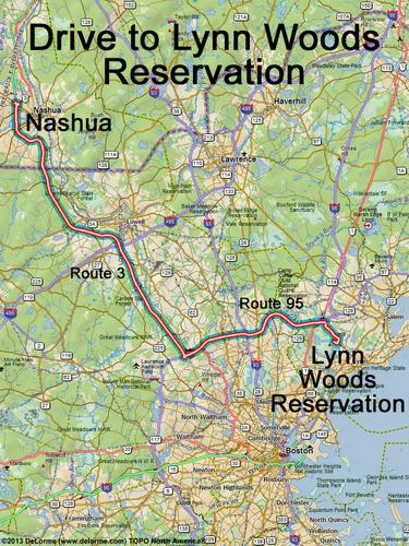 directions to Lynn Woods Reservation