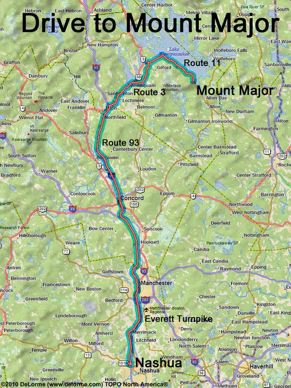 directions to Mount Major
