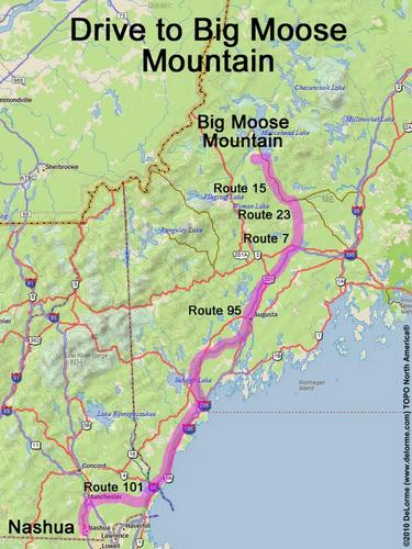 Drive To Big Moose Mountain