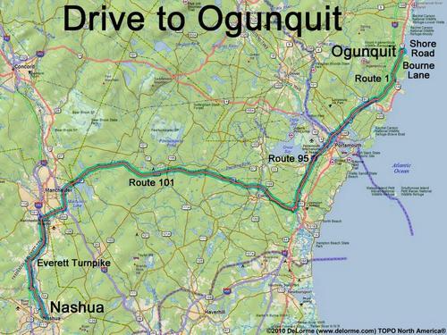 Drive To Ogunquit Beach