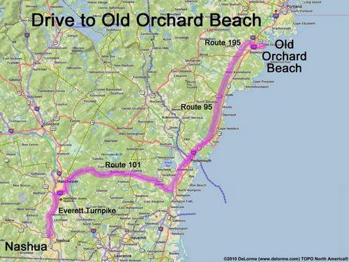 Drive Route To Old Orchard Beach