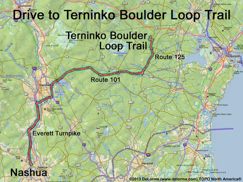 Drive to Terninko Boulder Loop Trail