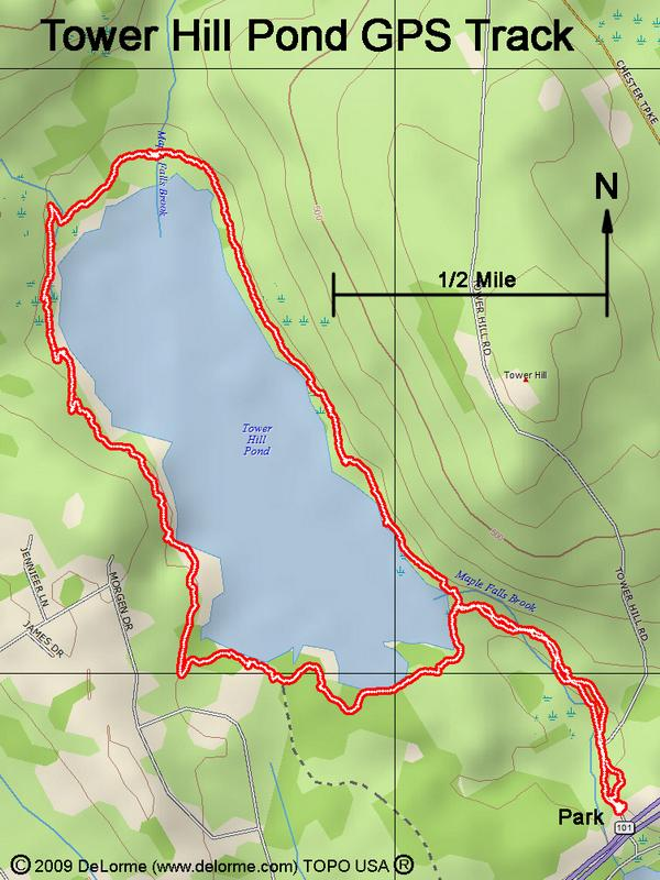 Directions To Tower Hill Pond - Map my walk online