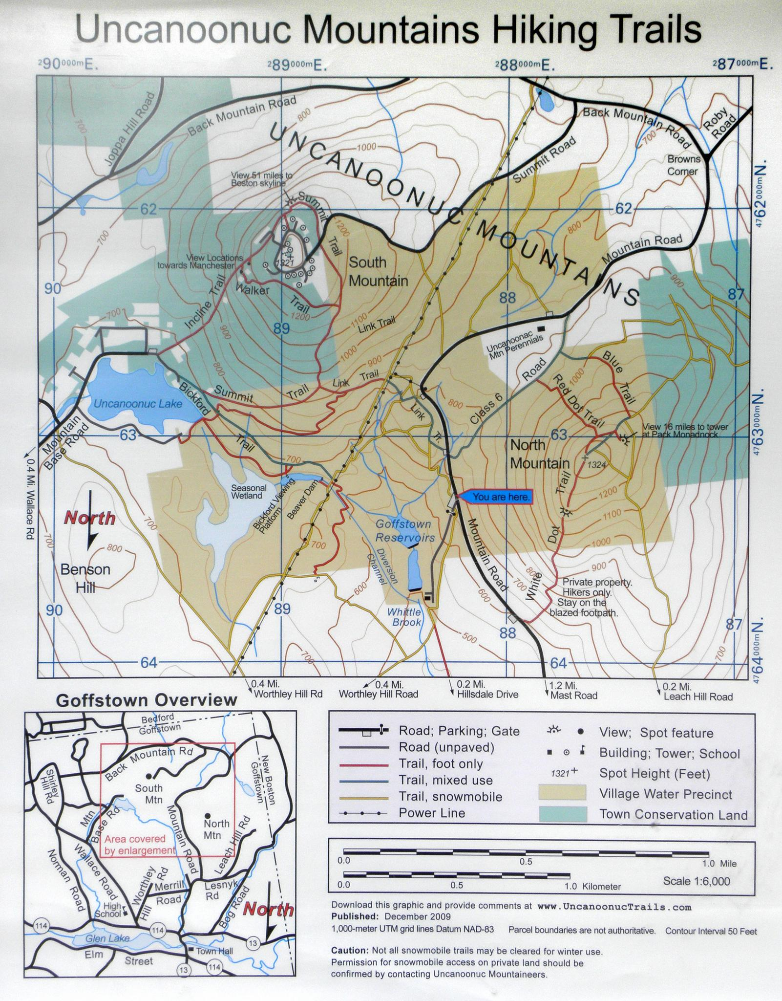 Directions To South Uncanoonuc Mountain - Southern nh map