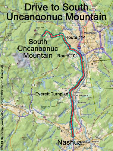 Uncanoonuc Trail Maps Related Keywords & Suggestions